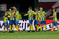 EMMEN - Voetbal, FC Emmen - RKC Waalwijk, De  Oude Meerdijk, Jupiler League, seizoen 2017-2018, 19-01-2018,  RKC viert de 0-1