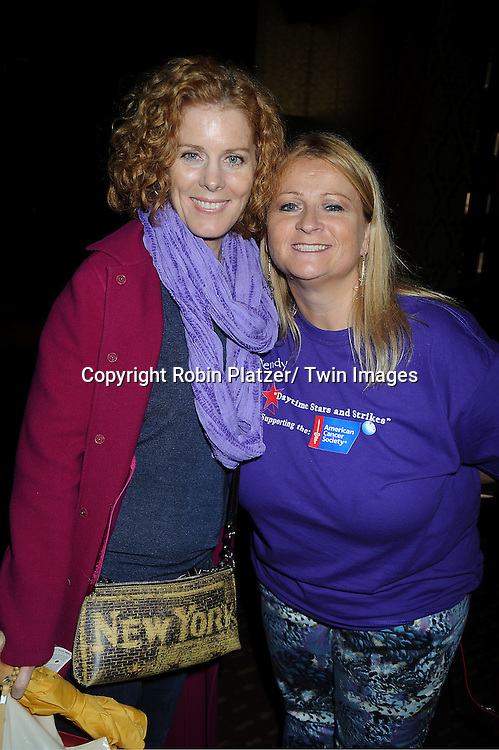 Liz Keifer and Wendy Madore attends the Daytime Stars and Strike Charity Event benefitting The American Cancer Society on October 7, 2012 at Bowlmor Lanes in Times Square in New York City.