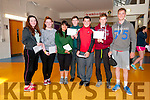 Pobalscoil Corcha Dhuibhne students Saoirse May, Emma Ní Chonchúir, Aileen Witt, Colm Ó Cinnéide, Eóin Ó Súilleabhain, John Mac Gearailt and Sean Ó Briain delighted with their Junior Certificate results on Wednesday.