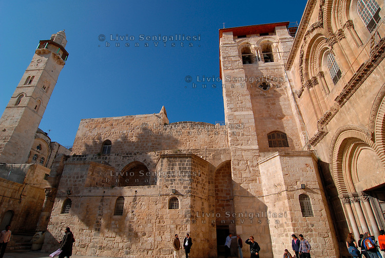 Gerusalemme / Israele.Ingresso del Santo Sepolcro.Foto Livio Senigalliesi..Jerusalem / Israel.Main Entrance to the Church of the Holy Sepulchre.Photo Livio Senigalliesi.