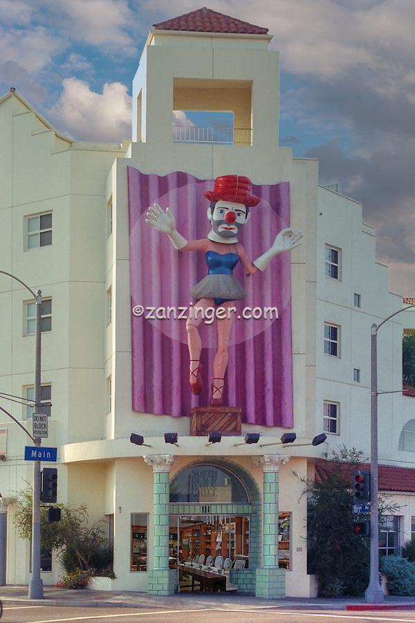 Clown Mannequin, Cross dresser, Main Street Venice, ca