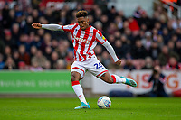7th March 2020; Bet365 Stadium, Stoke, Staffordshire, England; English Championship Football, Stoke City versus Hull City; Tyrese Campbell of Stoke City takes a shot on goal