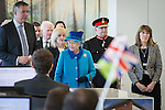 © Joel Goodman - 07973 332324 . No syndication permitted . 14/11/2013 . Manchester , UK . The Queen tours the offices . Queen Elizabeth II and the Duke of Edinburgh visit the Coop building at 1 Angel Square , Manchester , this morning ( 14th November 2013 ) . Photo credit : Joel Goodman