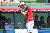 11th January 2018,  Kooyong Lawn Tennis Club, Kooyong, Melbourne, Australia; Priceline Pharmacy Kooyong Classic tennis tournament; Matt Ebden of Australia shows frustration whilst competing against Richard Gasquet of France