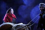 UN VIOLON SUR LE TOIT..Auteur : STEIN Joseph..Adaptateur : LAPORTE Stephane..Mise en scene : DESCHAUX Jeanne..Decor : TAPIERMAN Serge..Avec :..WILMET Alain:TEVYE le laitier..CAIHOL Vanessa:CHAVA la cadette..Lieu : Le Palace..Ville : Paris..Le : 18 02 2010..© Laurent PAILLIER / photosdedanse.com..All rights reserved