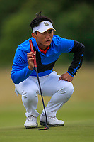 Witchayanon Chothirunrungrueng of Team Thailand on the 7th green during Round 3 of the WATC 2018 - Eisenhower Trophy at Carton House, Maynooth, Co. Kildare on Friday 7th September 2018.<br /> Picture:  Thos Caffrey / www.golffile.ie<br /> <br /> All photo usage must carry mandatory copyright credit (&copy; Golffile | Thos Caffrey)