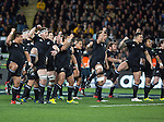 Haka. All Blacks beat Australia 22-0. Eden Park, Auckland. 25 August 2012. Photo: Marc Weakley