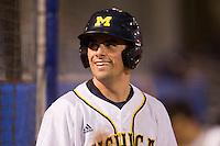 Michigan Wolverines outfielder Michael O'Neill #10 during a game against the Pittsburgh Panthers at the Big Ten/Big East Challenge at Florida Auto Exchange Stadium on February 18, 2012 in Dunedin, Florida.  (Mike Janes/Four Seam Images)