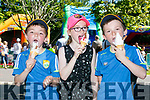 Enjoying an ice cream at Feile na mBlath on Saturday were Sean Sargent, Rachel Sargent and David Sargent