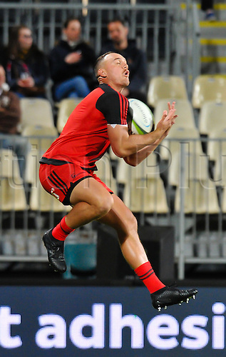 15.04.2016. Christchurch, New Zealand.  Israel Dagg of the Crusaders warming up during the Super Rugby Match, Crusaders V Jaguares, AMI Stadium, Christchurch, New Zealand. 15th April 2016.
