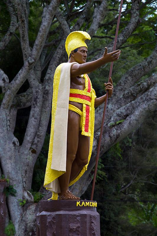 Statue of King Kamehameha. Hawi, Hawaii, The Big Island.