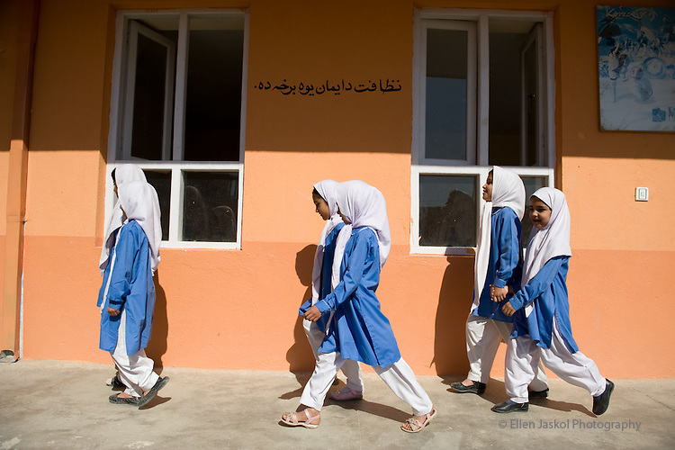 Kabul, Afghanistan.   Saturday June 12, 2010, at schools and literacy centers on the south end of Kabul.  Photos by Ellen Jaskol.