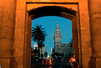 "The ""Palacio Salvo"" is seen through the Ciudadela's door in downtown Montevideo, Uruguay. Matilde Campodonico/Archivo Latino"