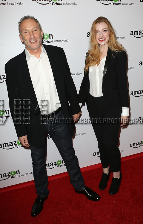John Strauss and Georgia Hays attending the Amazon Red Carpet Premiere for 'Mozart in the Jungle' at Alice Tully Hall on December 2, 2014 in New York City.