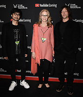 LOS ANGELES- DECEMBER 12: (L-R) Hideo Kojima, Lindsay Wagner, and Norman Reedus attend the Game Awards 2019 at the Microsoft Theater on December 12, 2019 in Los Angeles, California. (Photo by Scott Kirkland/PictureGroup)