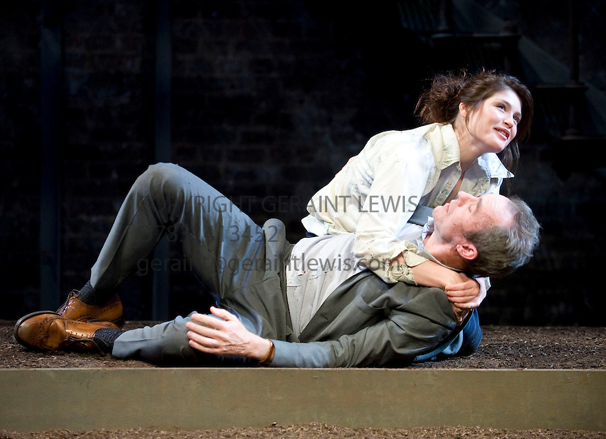 The Master Builder by Henry Ibsen,directed by Travis Preston.With Gemma Arterton as Hilde Wangel,Stephen Dillane as Halvard Solness.Opens at The  Almeida Theatre  on 18/11/10  CREDIT Geraint Lewis