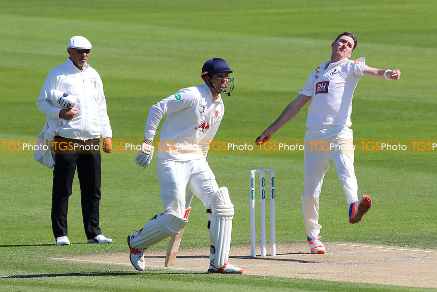 Alastair Cook of Essex looks on as Steve Magoffin bowls during Sussex CCC vs Essex CCC, Specsavers County Championship Division 2 Cricket at The 1st Central County Ground on 18th April 2016