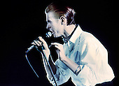 David Bowie - performing live on the Station To Station Tour at the Pavillion in Paris France - 17 May 1976.  Photo credit:   Rancurel/Dalle/IconicPix