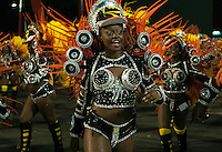Dancers of Sao Clementa samba school perform during parade at the Sambadrome, Rio de Janeiro, Brazil, March 2, 2014.  (Austral Foto/Renzo Gostoli)