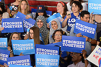 MIAMI, FL -  OCTOBER 11: Atmosphere as Democratic Presidential Candidate Hillary Clinton and Former Vice President Al Gore campaign during a rally to discuss climate Change on October 11, 2016 in Miami, Florida. Credit: mpi04/MediaPunch