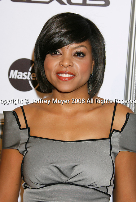 BEVERLY HILLS, CA. - February 19: Actress Taraji P. Henson arrives at the 2nd Annual ESSENCE Black Women in Hollywood Luncheon on February 19, 2009 in Beverly Hills, California.
