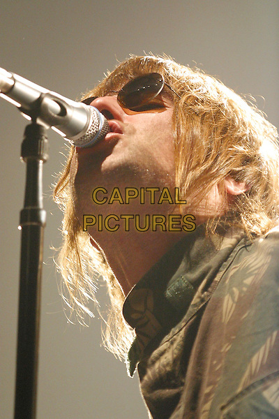 OASIS - LIAM GALLAGHER.Live In Germany.live, singing, concert, stage, army jacket, headshot, portrait, sunglasses, shades.Ref: F2F.www.capitalpictures.com.sales@capitalpictures.com.© Capital Pictures