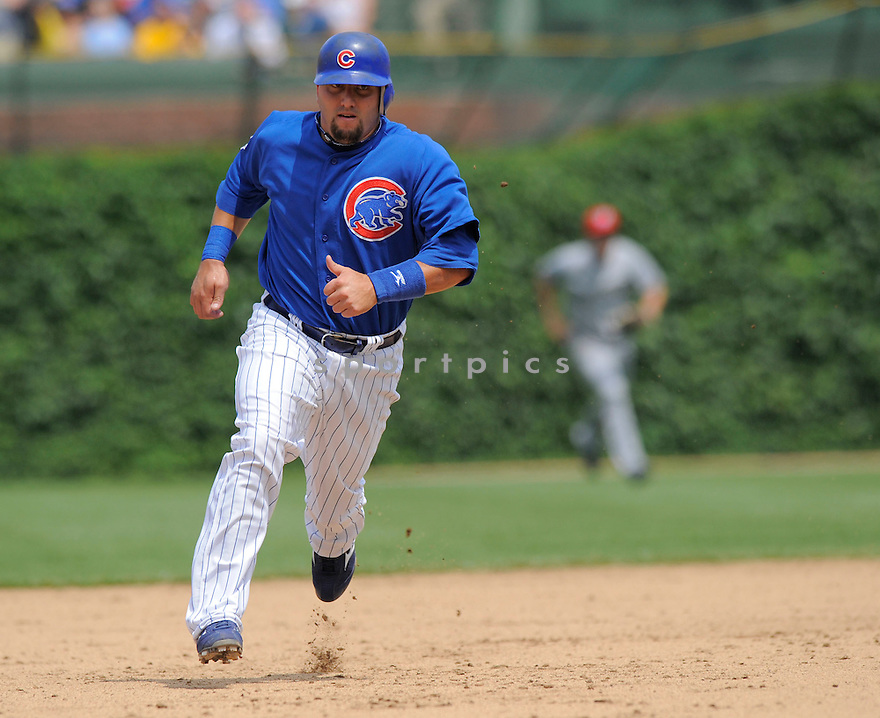 JAKE FOX, of the Chicago Cubs, in action during the Cubs game against the Milwaukee Brewers on July 3, 2009 at Wrigley Field in Chicago, IL.  The Cubs win 2-1.