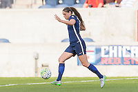 Bridgeview, IL, USA - Sunday, May 29, 2016: Sky Blue FC defender Erica Skroski (8) during a regular season National Women's Soccer League match between the Chicago Red Stars and Sky Blue FC at Toyota Park. The game ended in a 1-1 tie.