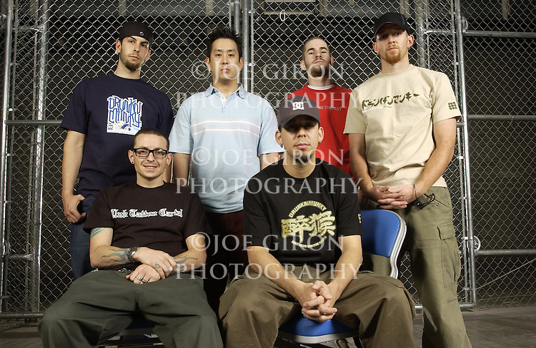 "Band and individual photos of Linkin Park.   The band is touring on the ""Projekt Revolution"" tour."