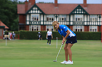 Ludovica Farina (AM)(ITA) on the 1st green during Round 2 of the Ricoh Women's British Open at Royal Lytham &amp; St. Annes on Friday 3rd August 2018.<br /> Picture:  Thos Caffrey / Golffile<br /> <br /> All photo usage must carry mandatory copyright credit (&copy; Golffile | Thos Caffrey)