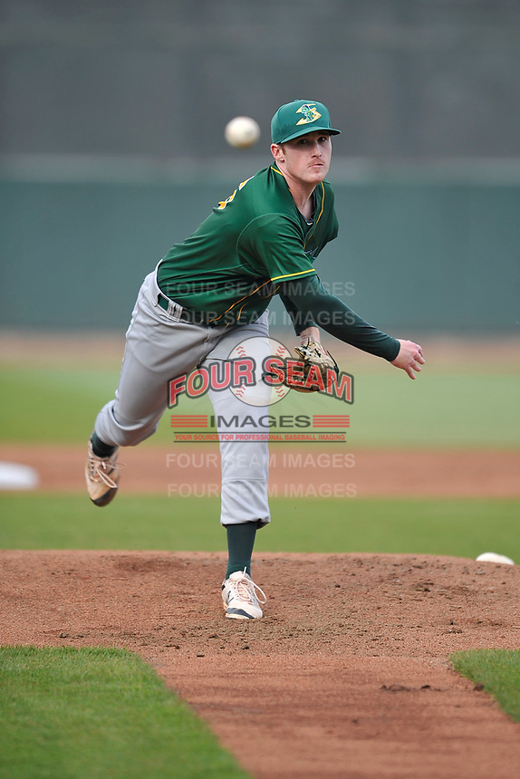 Beloit Snappers starting pitcher Michael Murray (26) in action during a game against the Cedar Rapids Kernels at Veterans Memorial Stadium on April 8, 2017 in Cedar Rapids, Iowa.  The Snappers won 7-6.  (Dennis Hubbard/Four Seam Images)