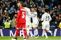 Real Madrid player celebrating goal of Jesé