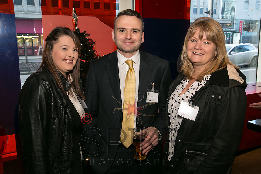 Neil Myers of Sunaxis is flanked by Pedigree Automotive Solutions' Shannon Allcock (left) and Samantha Harper