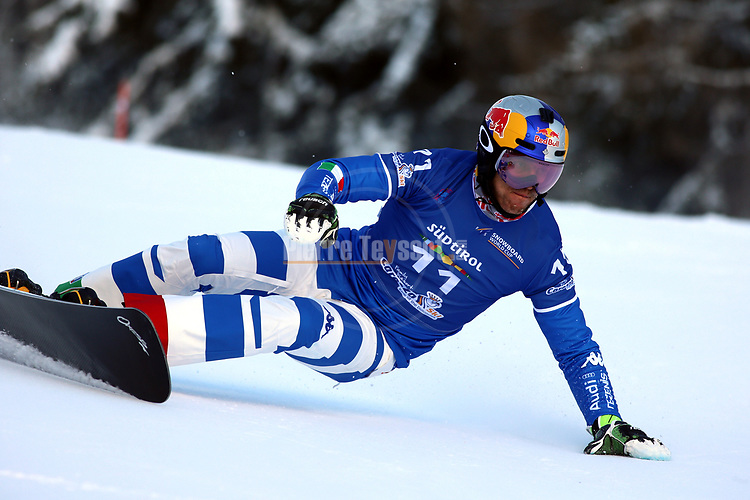 Snowboard World Cup 2018 FIS in Carezza, on December 14, 2017; Parallel Giant Slalom; Roland Fischnaller (ITA)