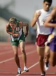 Carroll's Chris Brown throws up during the 3200-meter run during a high school state track and field in Austin, Texas on Saturday, May 12, 2007.  (photo by Khampha Bouaphanh)