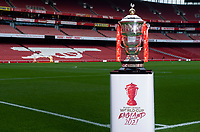 Picture by Alex Broadway/SWpix.com - 21/01/19 - Rugby League - Rugby League World Cup Trophy visits The Emirates Stadium, London, England.