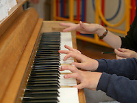 One to one piano lesson, State Primary School.