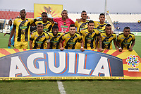 MONTERIA - COLOMBIA, 17-03-2019: Jugadores de Alianza P posan para una foto previo al partido por la fecha 10 de la Liga Águila I 2019 entre Jaguares de Córdoba F.C. y Alianza Petrolera jugado en el estadio Jaraguay de la ciudad de Montería. / Players of Alianza P pose to a photo prior the match for the date 10 as part Aguila League I 2019 between Jaguares de Cordoba F.C. and Alianza Petrolera played at Jaraguay stadium in Monteria city. Photo: VizzorImage / Andres Felipe Lopez / Cont