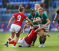 9th February 2020; Energia Park, Dublin, Leinster, Ireland; International Womens Rugby, Six Nations, Ireland versus Wales; Eimear Considine of Ireland tries to break through the tackle
