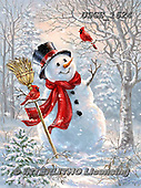 Dona Gelsinger, CHRISTMAS SANTA, SNOWMAN, WEIHNACHTSMÄNNER, SCHNEEMÄNNER, PAPÁ NOEL, MUÑECOS DE NIEVE, paintings+++++,USGE1624,#x#,snoman
