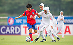 Korea Republic vs Iran during the AFC U-19 Women's Championship China Group B match at the Jiangsu Training Base Stadium on 19 August 2015 in Nanjing, China. Photo by Aitor Alcalde / Power Sport Images