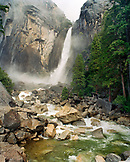 USA, California, Yosemite National Park, Yosemite Falls in the Springtime