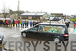 The funeral cortege of Brendan Walsh the former Principal of St Oliver's NS, Ballycasheen, Killarney passing the school on Monday