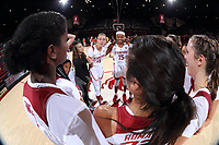 Stanford, CA -- November 1, 2018: Stanford Women's Basketball wins over Vanguard 87-36 in an exhibition game at Maples Pavilion.