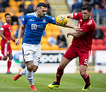 St Johnstone v Aberdeen&hellip;15.09.18&hellip;   McDiarmid Park     SPFL<br />Tony Watt and Scott McKenna<br />Picture by Graeme Hart. <br />Copyright Perthshire Picture Agency<br />Tel: 01738 623350  Mobile: 07990 594431