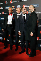 Dr. Bonaventura Clotet, Director of Fundacion Lucha Contra el SIDA; USA's ambasador in spain James Costos and his husband Michael S. Smith and singer Miguel Bose during Barcelona 5th AIDS Ceremony. November 24,2014.(ALTERPHOTOS/Acero) /NortePhoto<br />