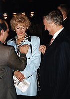 Anatoly Sobchak, Ludmila Narusova (father and mother Ksenia Sobchak)<br /> Russian TV anchor, journalist, socialite and actress and celebrity presidential candidate running against Putin.<br /> **FILE PHOTO FROM 1994?**<br /> ** NOT FOR SALE IN RUSSIA or FSU **<br /> CAP/PER<br /> &copy;PER/CapitalPictures