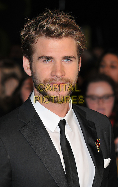 Liam Hemsworth attends the &quot;The Hunger Games: Mockingjay Part 2&quot; UK film premiere, Odeon Leicester Square, Leicester Square, London, England, UK, on Thursday 05 November 2015. <br /> CAP/CAN<br /> &copy;Can Nguyen/Capital Pictures