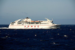 Ferry Armas, Volcan de Taburiente sailing between, Tenerife and La Gomera, Canary Islands, Spain