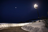 USA, Utah, Park City, a shot of the luge and bobsled course at the Utah Olympic Park